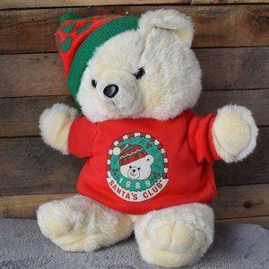 1989 Kmart Santa Bear Club Teddy Bear